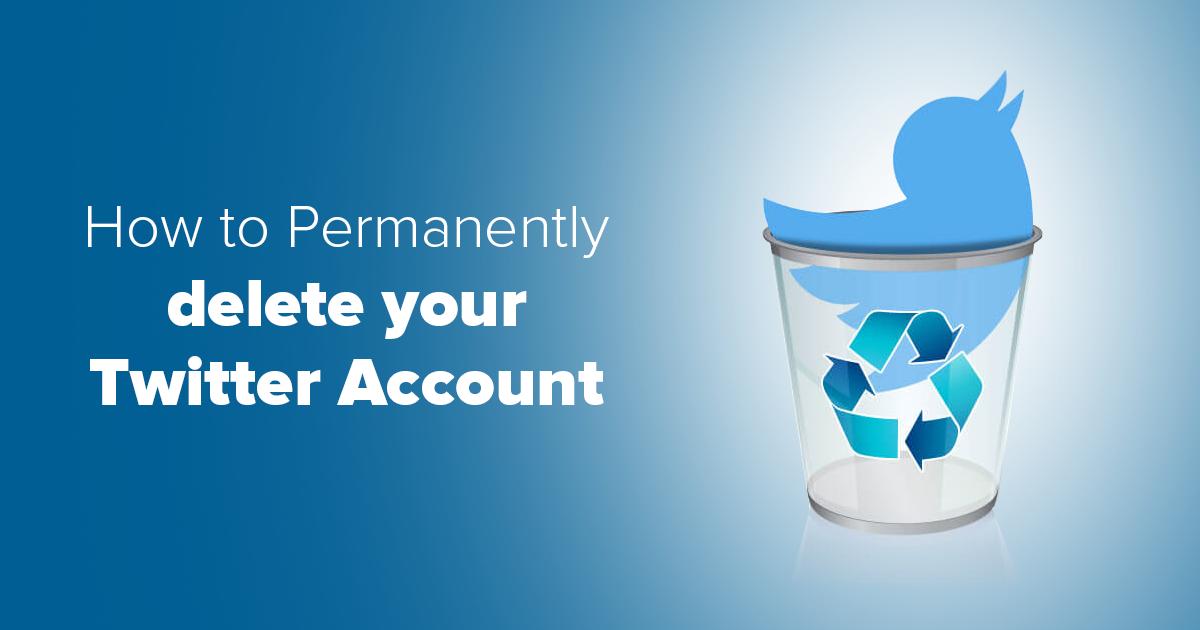 Smažte svůj Twitter účet za 3 minuty – tady je návod
